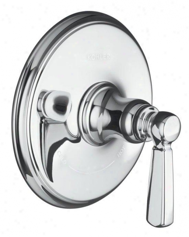 Kohler K-t10593-4-bv Bancroft Thermostatic Trim With Metal Lever Handle, Valve Nto Included, Vibrating