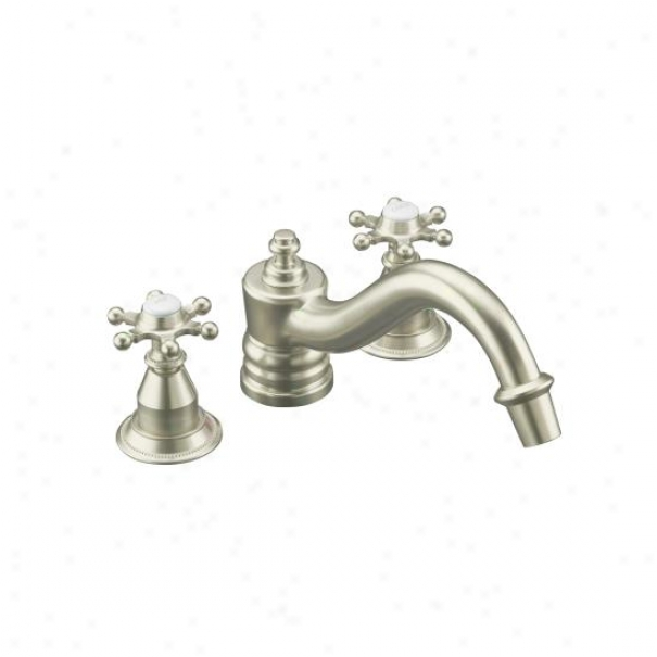 Kohler K-t125-4-bn Antique Deck-mount High-flow Bath Faucet Trim With Lever Handles, Valve Not Inclu