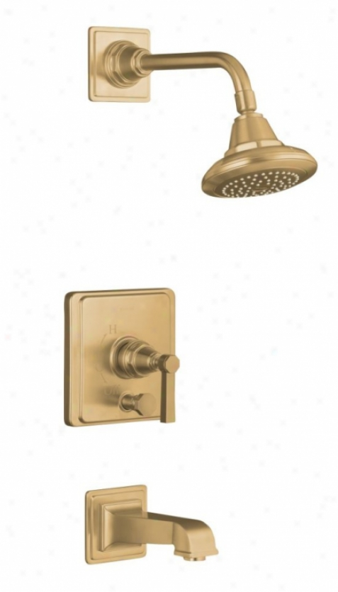 Kohler K-t13133-4a-bv Pinstrip ePure Ritetemp Pressure-balancing Bath And Shower Faucet Trim With Le