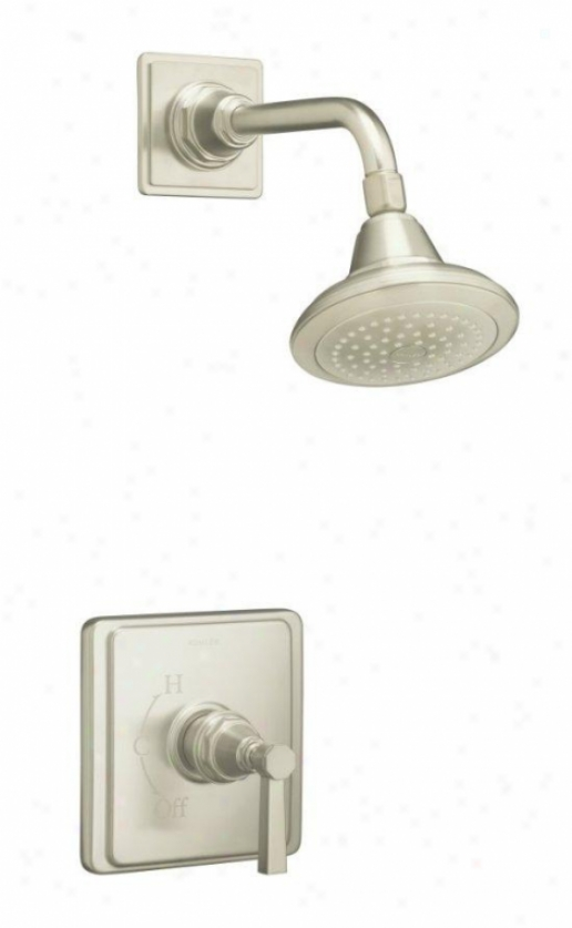 Kohler K-t13134-4a-bn Pinstripe Pure Shower Faucet Trim With Lever Handle, Valve Not Included, Vibra