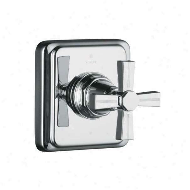 Kohler K-t13175-3b-bv Pinstripe Transfer Valve Trim, Thwart Handle, Valve Not Included, Vibrant Brush