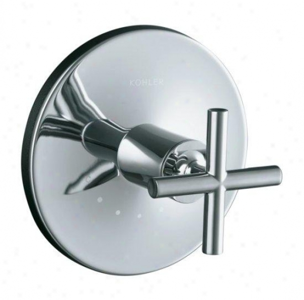 Kohler K-t14488-3-bn Purist Thermostatic Valve Trim With Cross Handle, Valve Not Included, Vibrant B