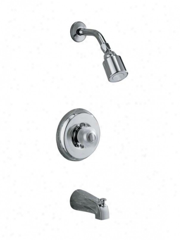 Khler K-t15601-7s-cp Coralais Bath And Shower Mixing Valve Faucet Trim With Sculptured Acrylic Hand