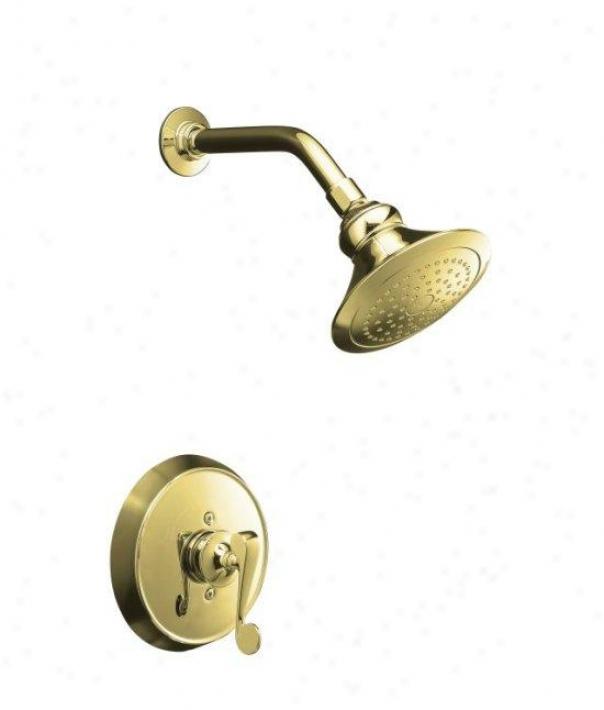 Kohler K-t16114-4-pb Revival Rite-temp Pressure-balancing Shower Faucet Trim With Scroll Lever Handl
