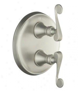 Kohler K-t16176-4-bn Revival Stacked Valve Trom Wigh Scroll Handles, Valve Not Included, Vibrant Bru