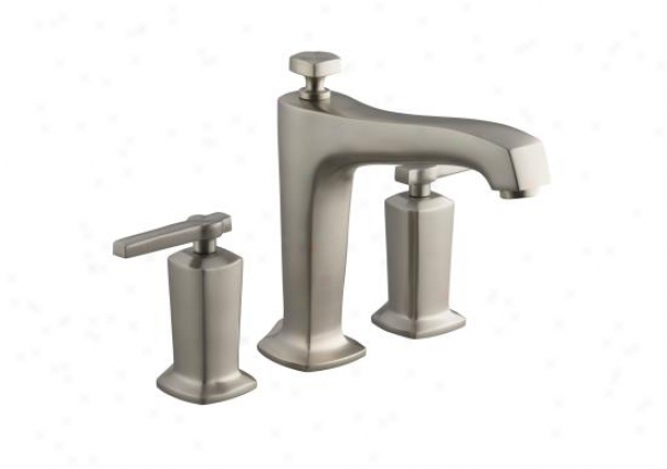 Kohler K-t16236-4-bn Margaux Deck-miunt Hibh-flow Bath Faucet Trim, Valve Not Included, Vibrant Brus