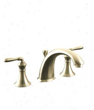Kohler K-t387-4-bv Devonshire Deck-mount Bath Faucet Trim With Lever Handles, Va1ve Not Included, Vi