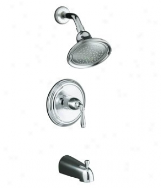 Kohler K-t395-4s-bv Devonshire Rite-temp Pressure-balancing Bath And Shower Faucet Trim With Lever H