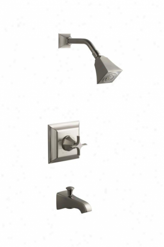 Kohler K-t461-3s-bn Memoirs Rite-temp Pressure-balancing Bath And Shower Faucet Trim With Stately De