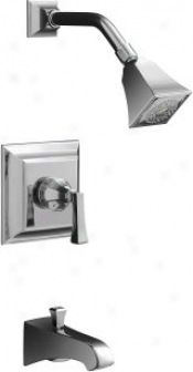 Kohler K-t461-4v-cp Memoirs Rite-temp Pressure-balancing Bath And Shoser Faucet Trim With Stately De
