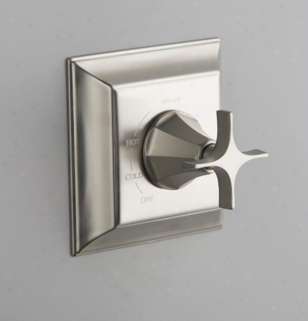 Kohler K-t463-3s-bn Memoirs Rite-temp Pressure-balancing Valve Trim With Stately Design And Cross Ha