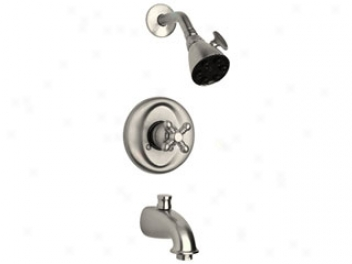 La Toscana 46pw697 Ducale Single Handle Tub And Shower Valve And Trim, Brushed Nickel