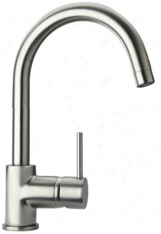 La Toscana 78pw250 Elba Single Handle High Arc Lavatory Faucet, Brushed Nickek