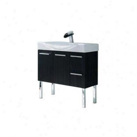 La Toscana By Paini 7056p-479 Cortina Vanity, Black