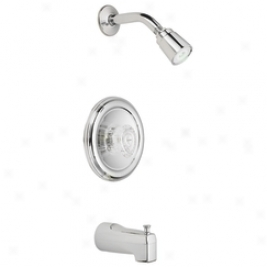 Moen 2363 Chateau Single Handle Posi-temp Valve And Tub/shower Trim, Chrome