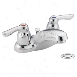 Moen 4925 Chateau Two Handle Lavayory Faucet With Drain Assembly, Chrome