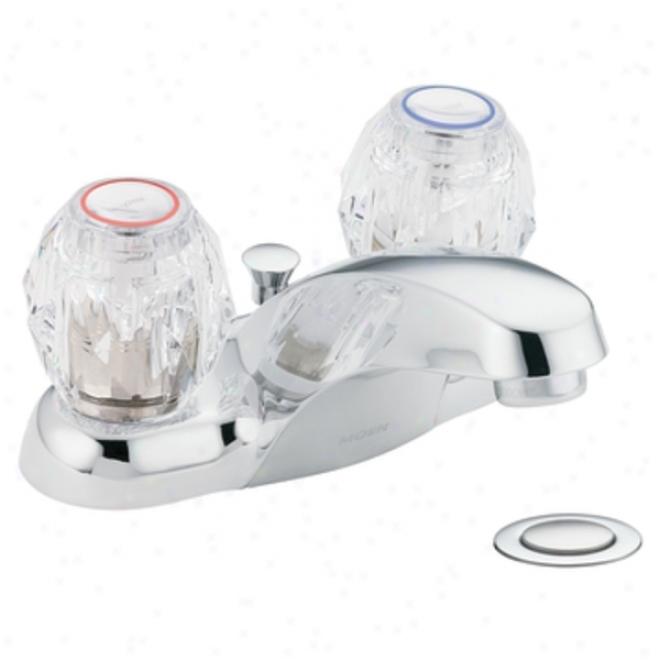 Moen Ca4920 Chateau Two-handle Low Arc Bathroom Faucet, Chrome