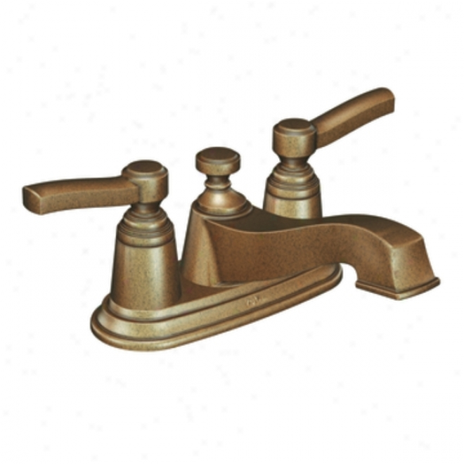 Moen Ca6201az Rothbury Two-handle Low Arc Bathroom Faucet, Antique Bronze