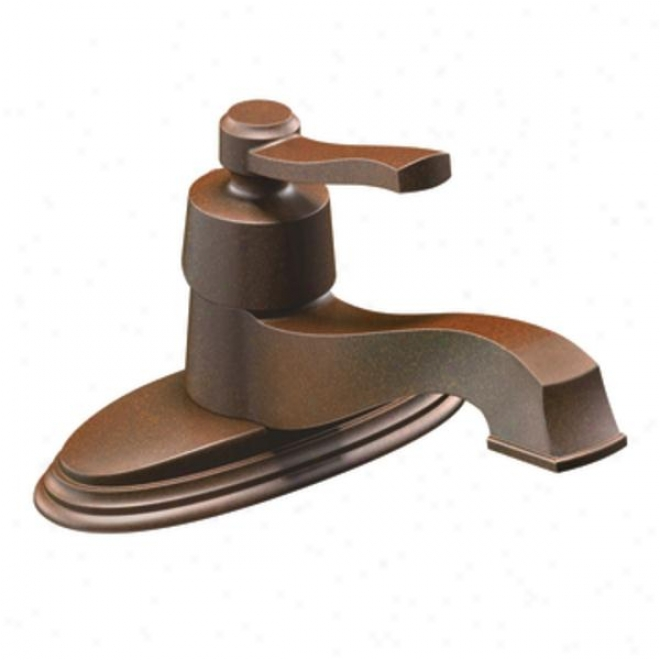 Moen Ca6202orb Rothbury On-handle Low Arc Bathroom Faucet, Oil Rubbed Bronze