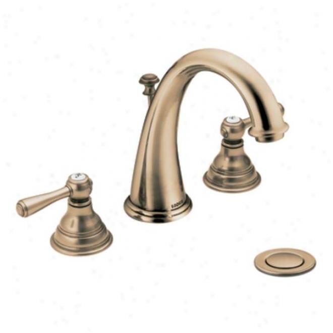 Moen Cat6125 Kingsley Two-handle High Arc Bathroom Faucet, Chrome