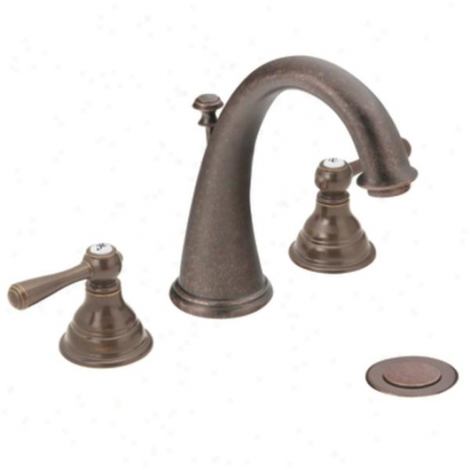 Moen Cat6125orb Kingsley Two-handle High Arc Bathroom Faucet, Oil Rubbed Bronze