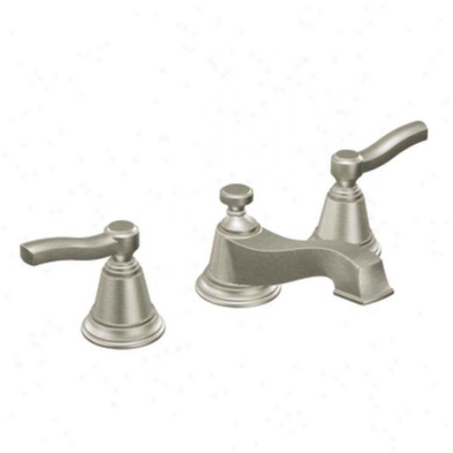 Moen Cat6205bn Rothbury Two-handle Low Arc Bathroom Faucet, Brushed Nickel