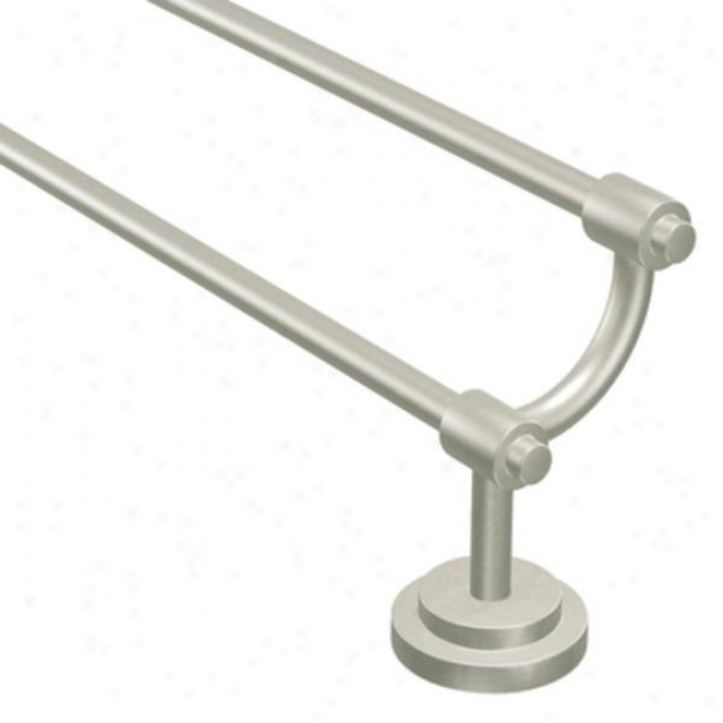 Moen Dn0722bn Iso 24 Double Towel Bar, Brushed Nickel