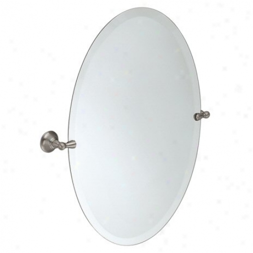 Moen dn6892bn sage oval tilting mirror brushed nickel bathroom catalog the home flooring for Bathroom mirrors brushed nickel