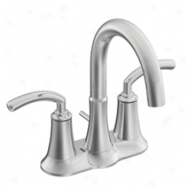 Moen Premium S6510 Icon Two Handle Lavatory Faucet With Drain Assembly, Chrome