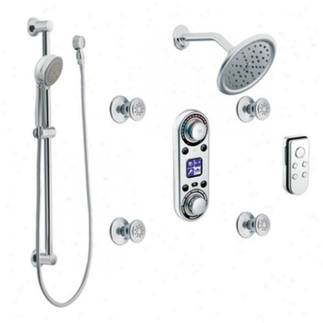 Moen Premium Ts295 Digital Vertical Spa, Chrome