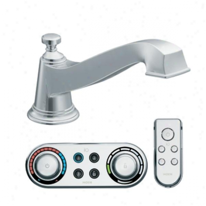 Moen Premium Ts9221 Rothbury Low Arc Roman Tub Faucet Icnludes Digital Technology, Chrlme