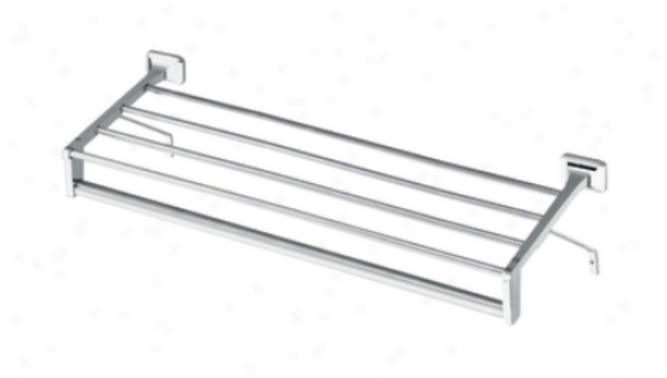 Moen R5519 Inn Motel 24 Towel Shelf And Bar, Crhome
