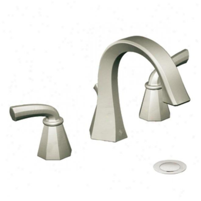 Moen Showhouse Cats448bn Felicity Two-handle High Arc Bathroom Faucet, Brushed Nickel