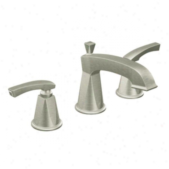 Moen Showhouse Cats458bn Divine Two-handle Low Arc Bathroom Faucet, Brushed Nickel