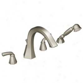 Moen Showhouse  S244bn Felicity Two Handle Roman Tub Faucet With Built-in Hans Showed Diverter, Brus