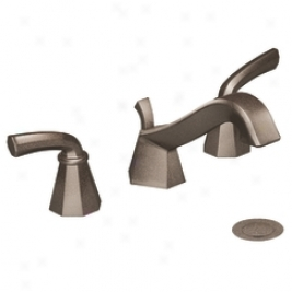 Moen Showhouse S447orb Felicity Two Handle Lavatory Faucet Wth Drain Assembly, Oil Rubbed Brass