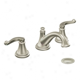 Moen Showhouse S497bn Savvy Two Handle Lavatory Faucet Through  Drain Assembly, Brushed Nickel