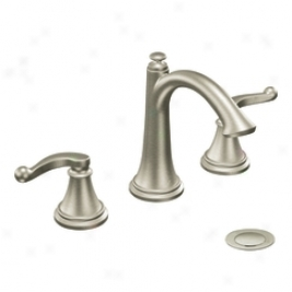 Moen Showhouse S498bn Savvy Two Handle Lavatory With Drain Assembly, Brushed Nickel