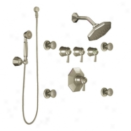 Moen Showhouse S546bn Felicity Exactt3mp 3/4 Vertical Spa Set, Brushed Nickel