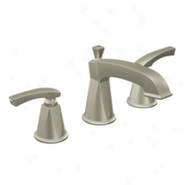 Moen Showhouse Ts458hn Divine Widespread Two-handle Lavatory Faucet Trim, Hammered Nickel
