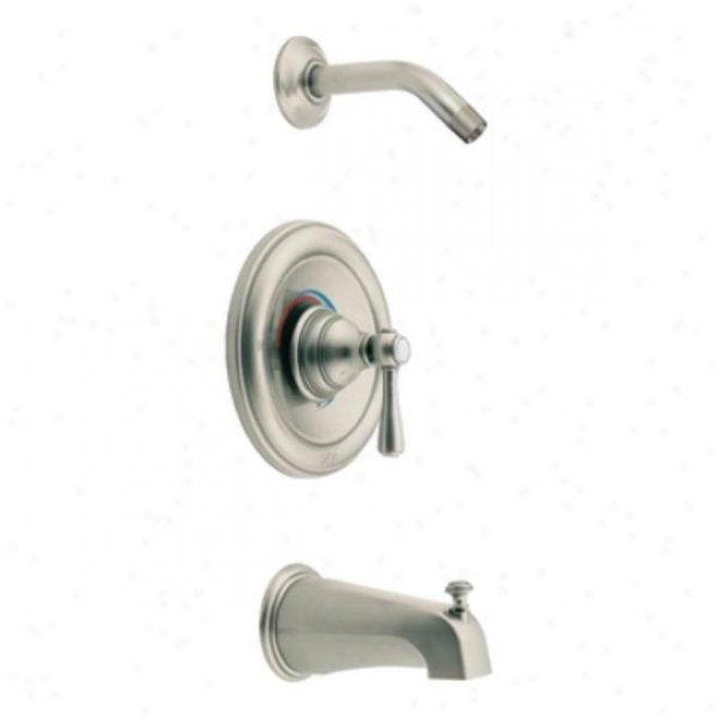 Moen T2113nhan Kingsley Posi-temp Tub And Shower Trim, Antique Nickel