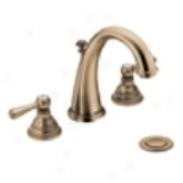 Moen T6125az Kingsley Widespread Hi Arc Lavatory Faucet, Antique Bronze