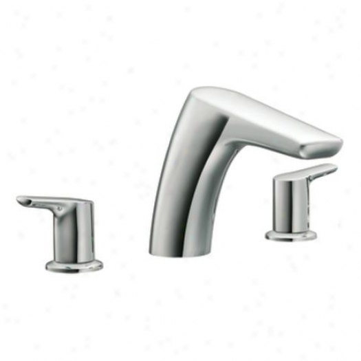 Moen T986 Method Two-handle Weak Arc Roman Tub Faucet, Chrome