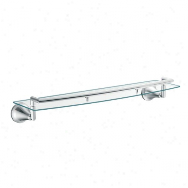 Moen Yb5890ch Icon Glass Shelf, Chrome