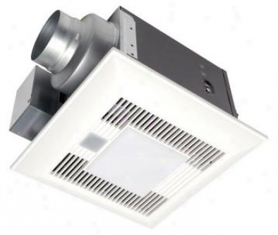 Panasonic Fv-08vkml3 Whispergreen-lite 80 Cfm Ceiling Mounted Ventilation Fan With Light, Variable S