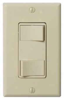 Panasonic Fv-wcsw21-a Whispercontrol Double Function Switch, Almond