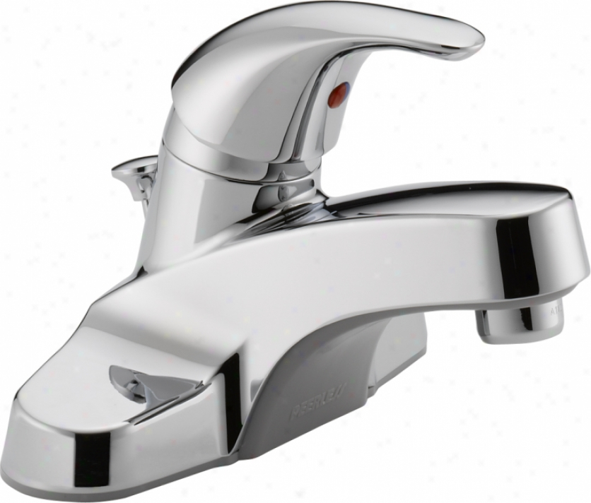 Peerless P136lf Single Lever Handle Centerset Lavatory Faucet With Soft Pop-up, Chrome
