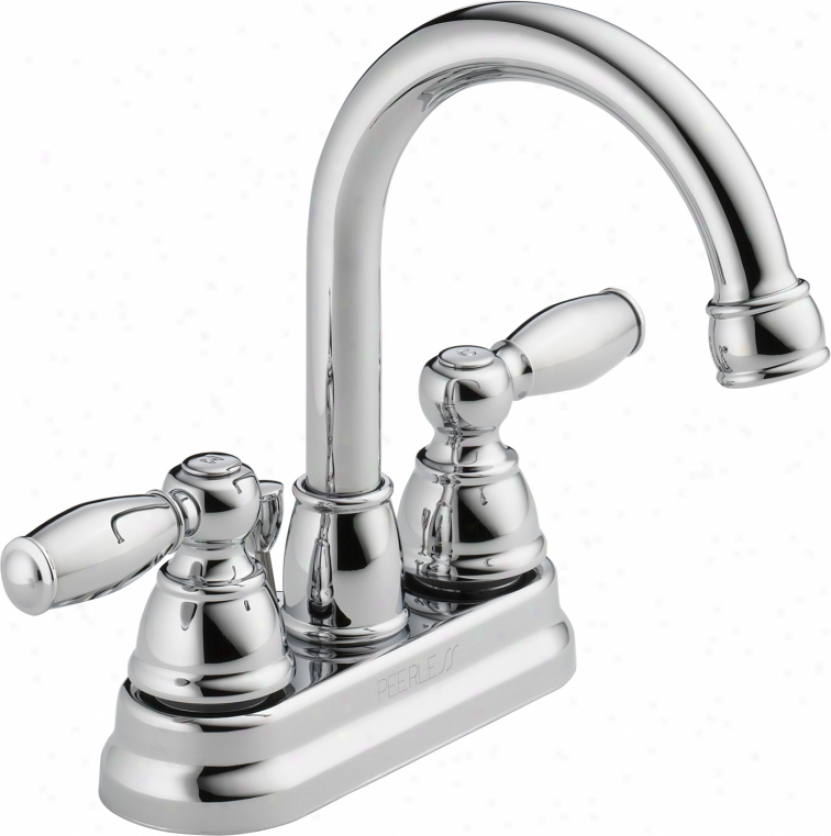 Peerless P299685lf Two Traditional Handle Neo Centerset Lavatory Faucet, Chrome