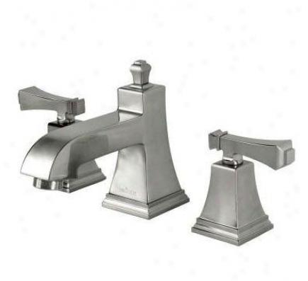 Pegasus 67390-8004 Exhibit Two Handle 8 Widespread Low-arc Bathroom Faucet, Brushed Nickel
