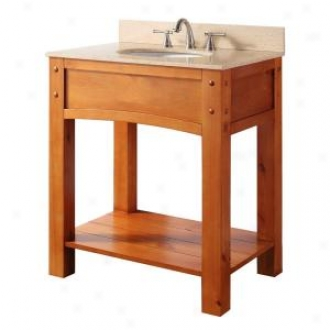 Pegasus 9130-vs30f Sierra 30 Vanity With Cream Marble Emptiness Top And Sink, Light Pine